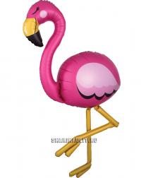 Шар ходячка Розовый Фламинго