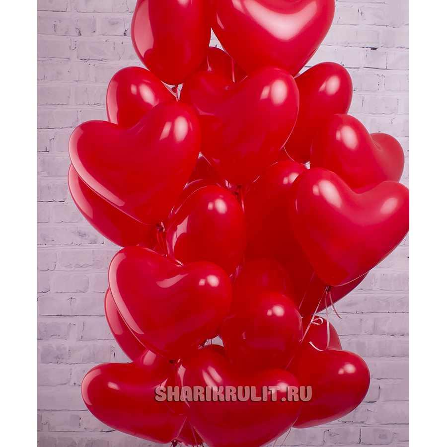 Шары с гелием сердца красные